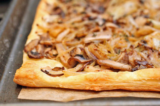 Mushroom and Ajwain Pissaladire