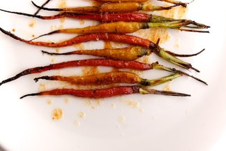 Rosemary Roasted Baby Carrots with Honey Brown Butter