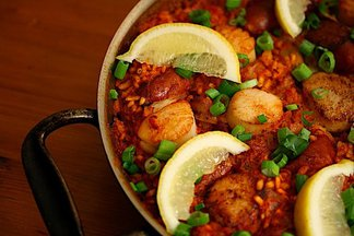 Scallop &amp; Andouille Paella 