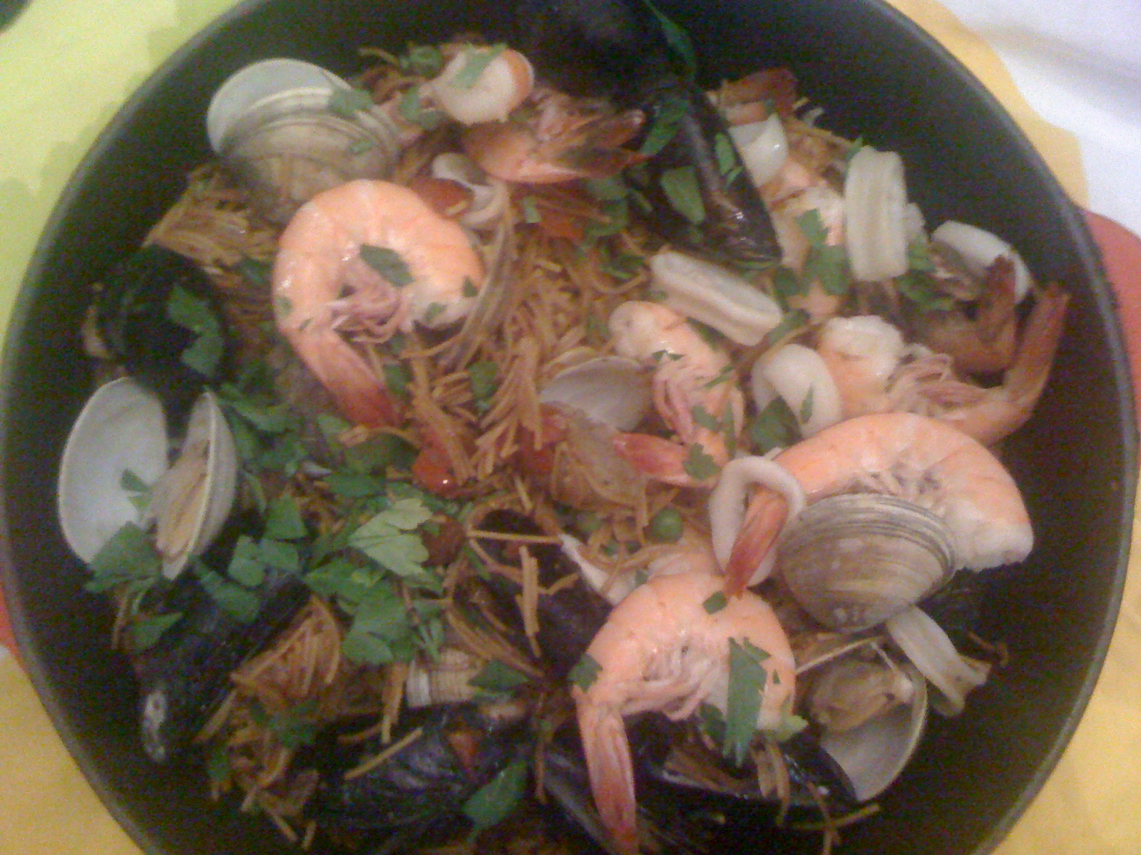 Smoky Seafood Fideos
