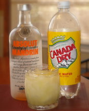 Absolut(ely) Mandrain Vodka &amp; Tonic