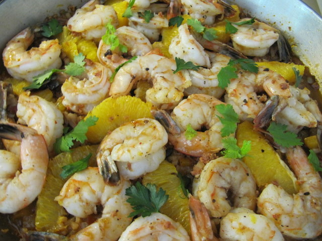 Prawn Paella with Orange