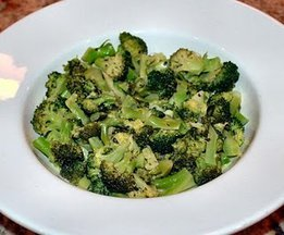 Broccoli with Lime Shallot Dressing