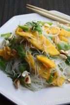 Rice Noodle Salad with Mango and Snow Peas