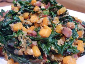 "Butternut Squash ""Rouille"" with Swiss Chard"