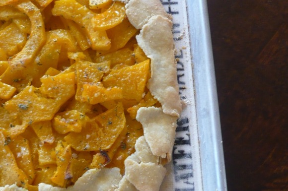 Butternut Squash and Roasted Garlic Galette