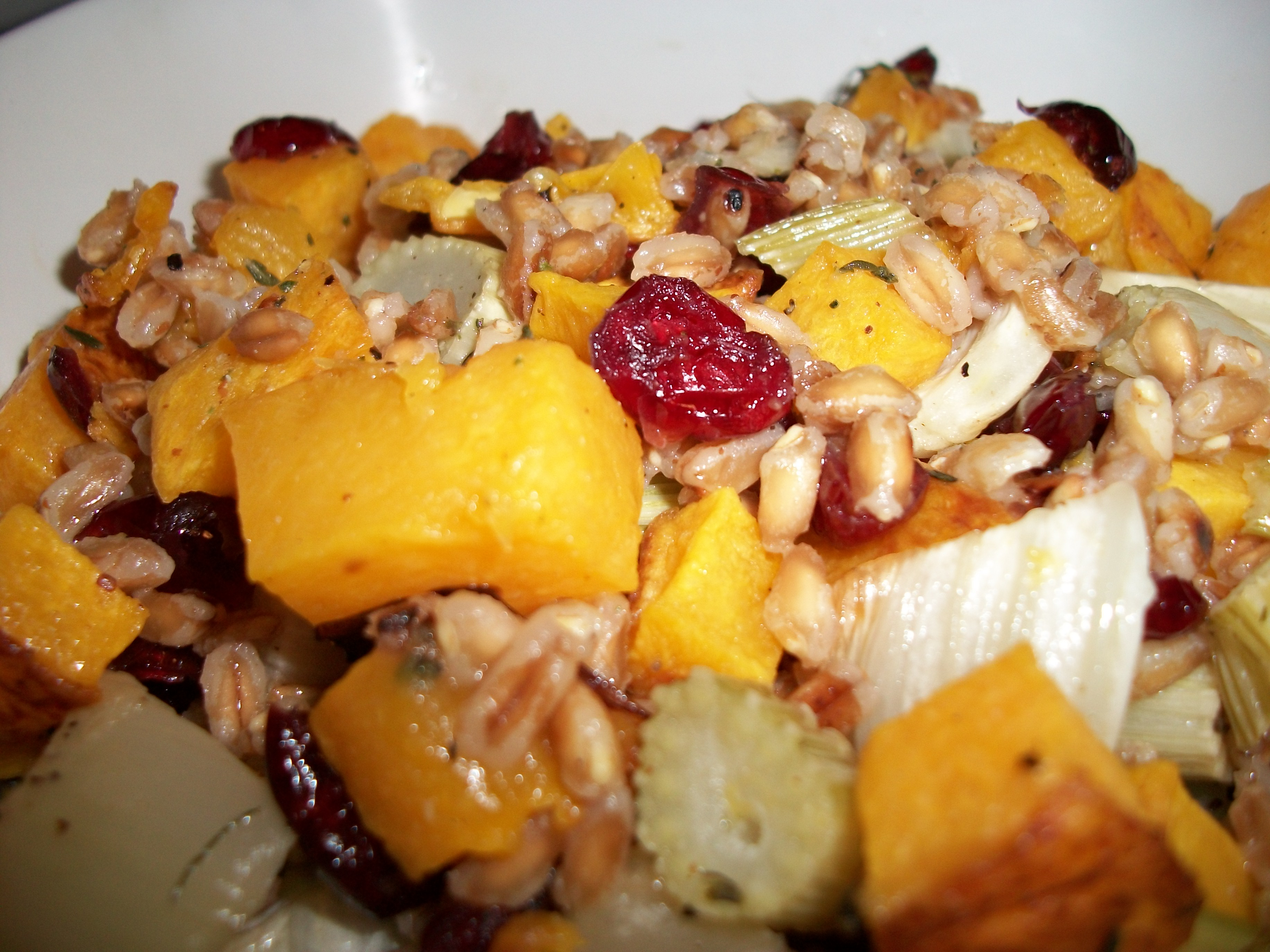Roasted Butternut Squash, Fennel, and Farro Salad