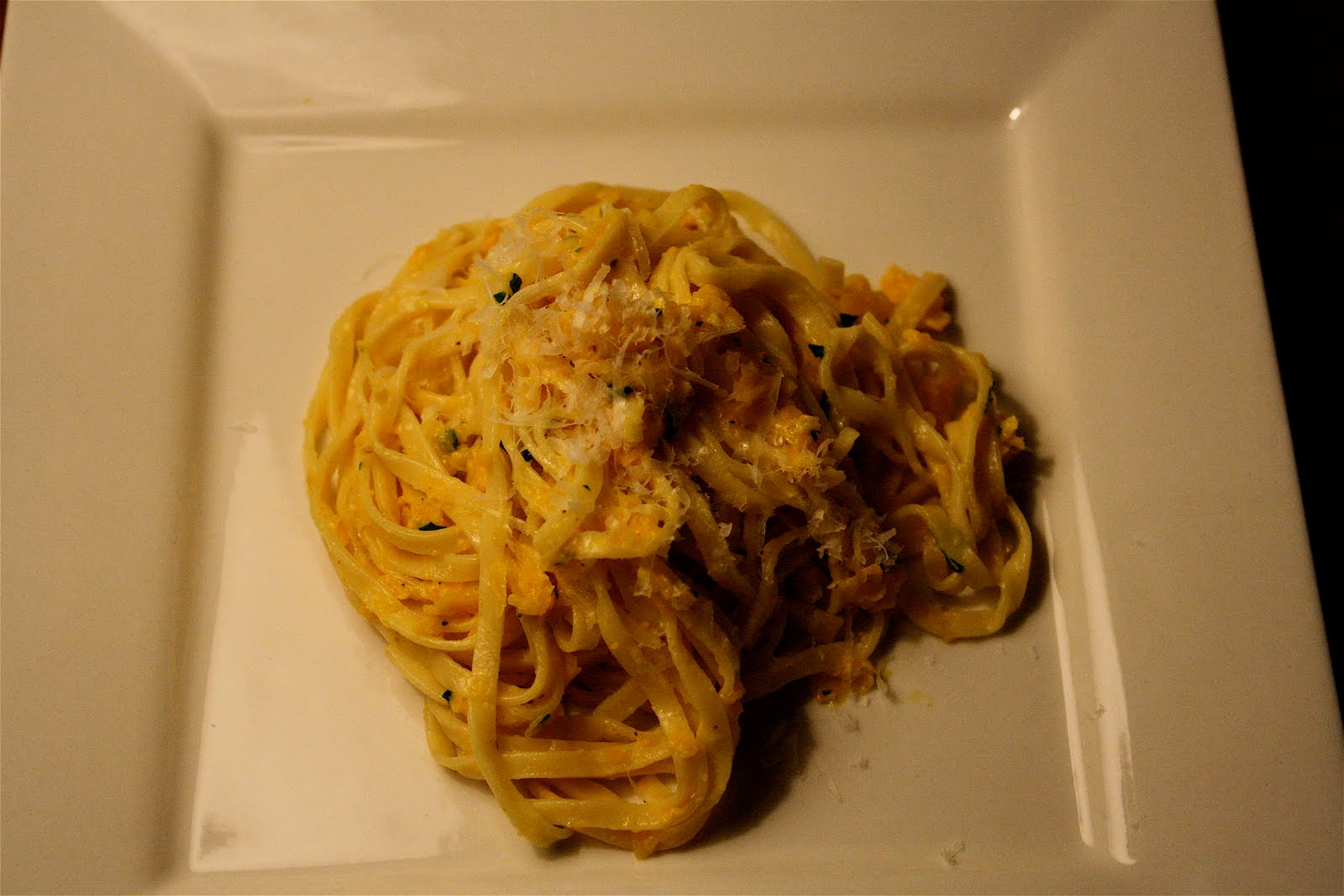 Linguine &quot;Cacio e Pepe&quot; with Shredded Squash