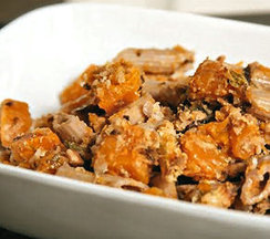 Butternut Penne with Feta and Pecans