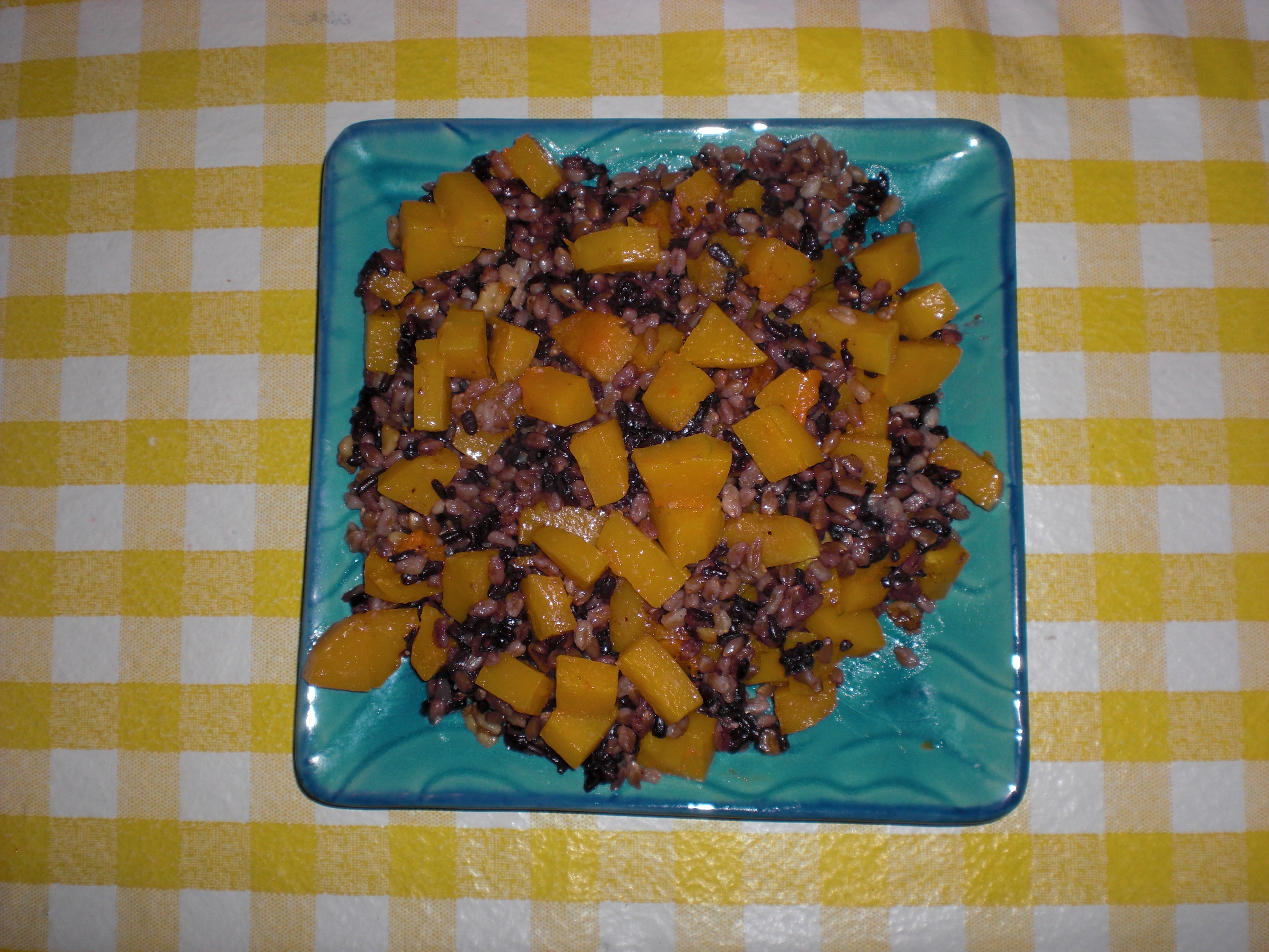 Roasted Butternut Squash with Autumn Grains, Browned Butter, Walnuts and Sage