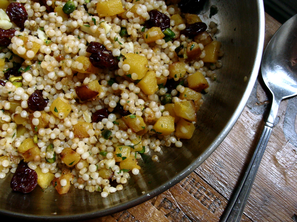Israeli Couscous with Squash, Dried Cherries &amp; Pistachios