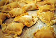 Butternut and amaretto tortelli with brown sage butter