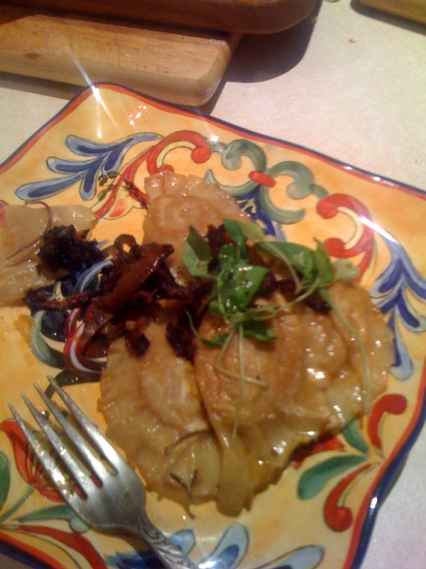 Butternut Squash Perogies with Caramelized Red Onion & Apple
