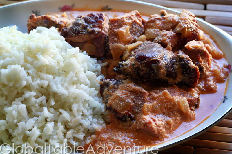 "Smoked Turkey Stewed in West African ""Gravy"""
