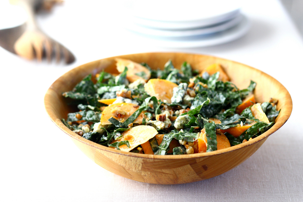 Kale and Persimmon Salad