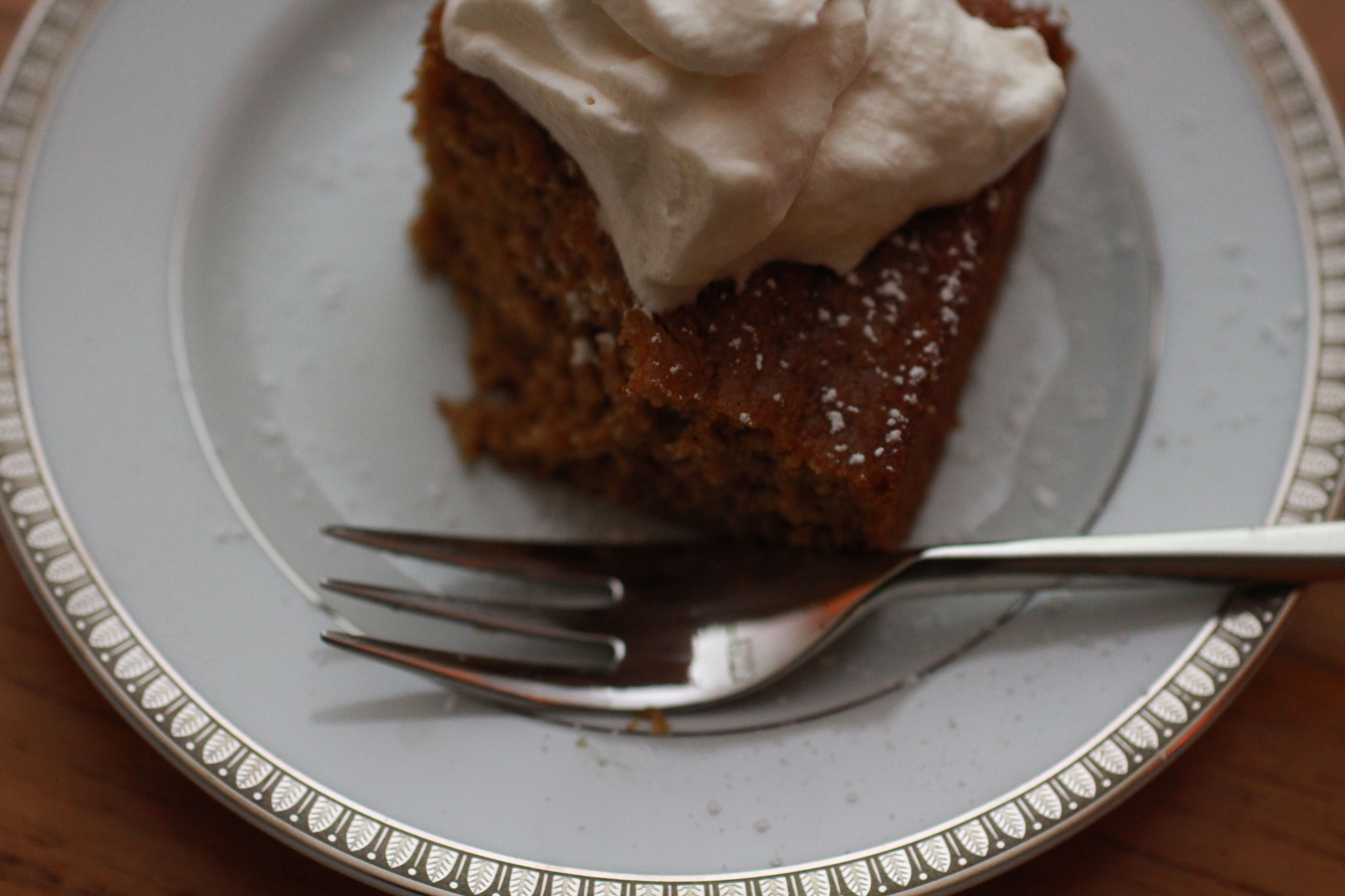 Pumpkin &quot;Brownies&quot; with Maple Rum Cream