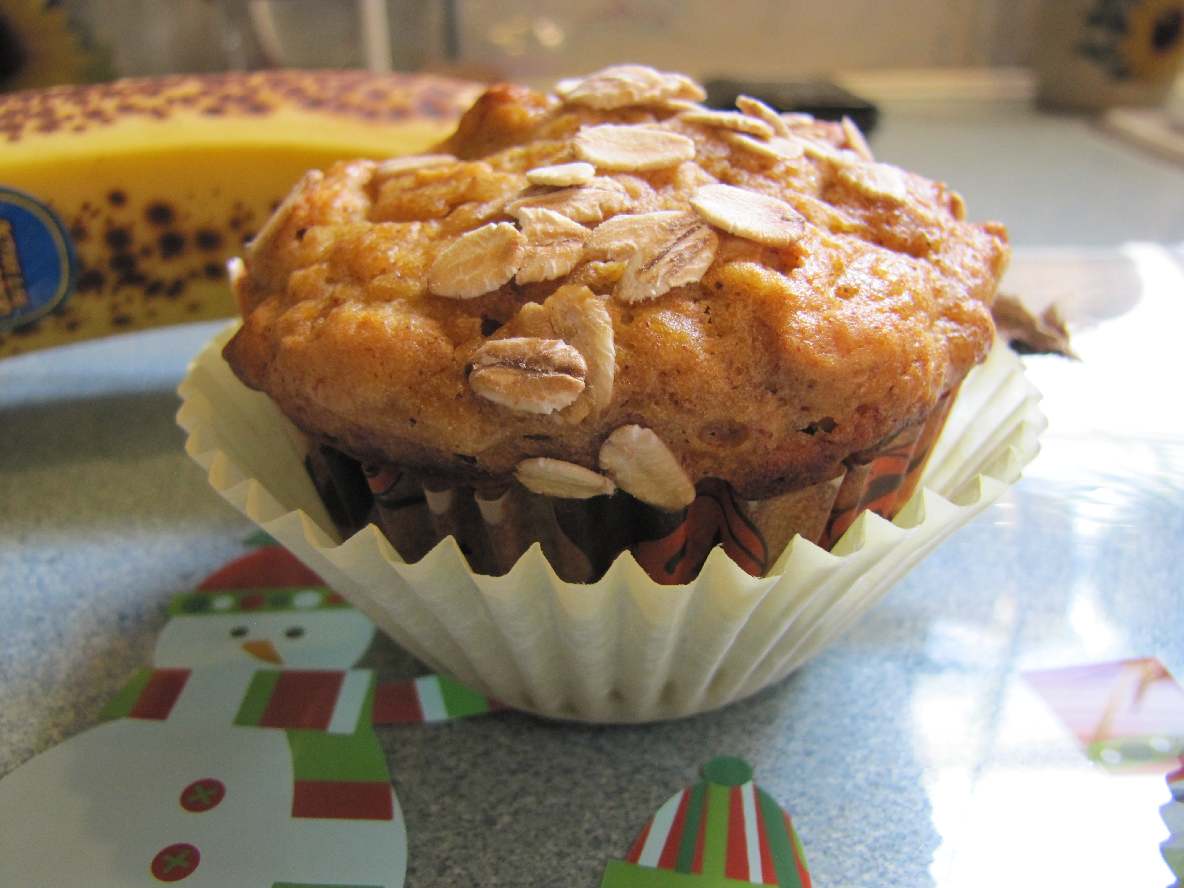 Pumpkin/Banana Oatmeal Muffins