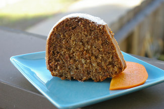 Spiced Persimmon Olive Oil Cake
