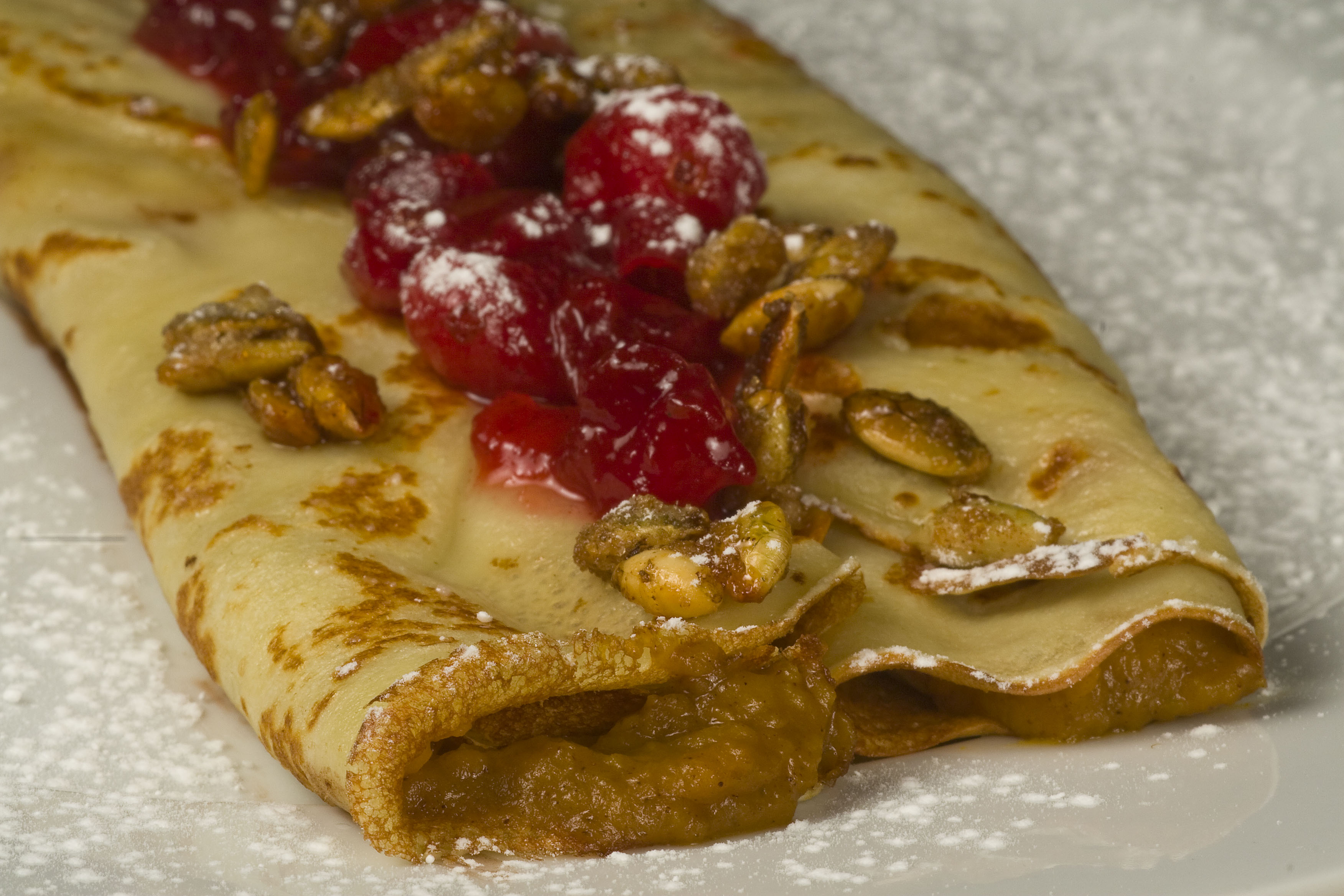 Pumpkin Cranberry Crepes