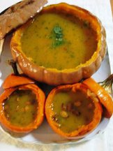 Spicy Cheese Pumpkin &amp; Sweet Dumpling Squash Soup