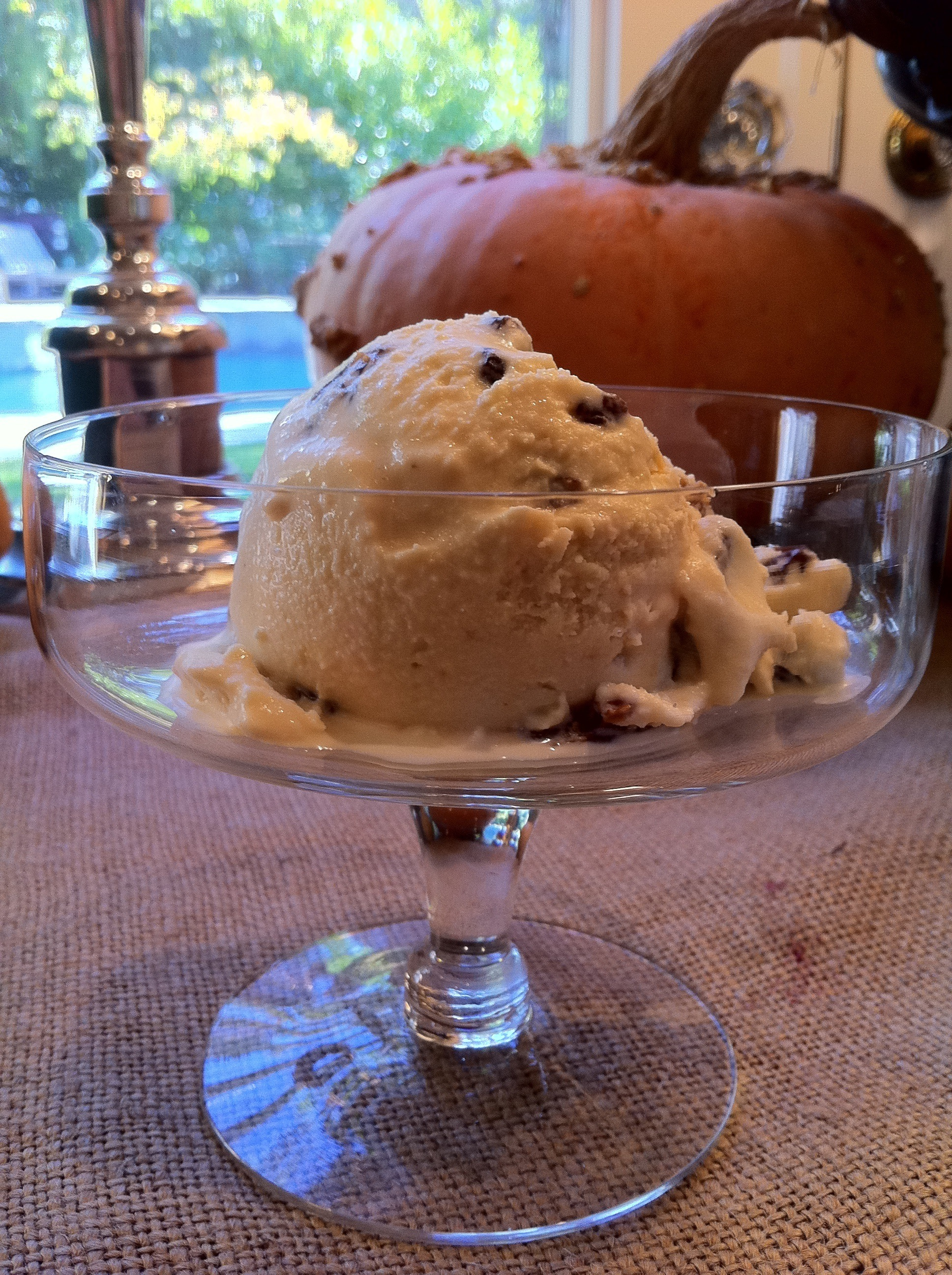 Black Strap Rum Raisin Ice Cream with shortcakes