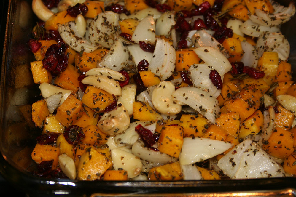 Butternut and Cranberry Casserole