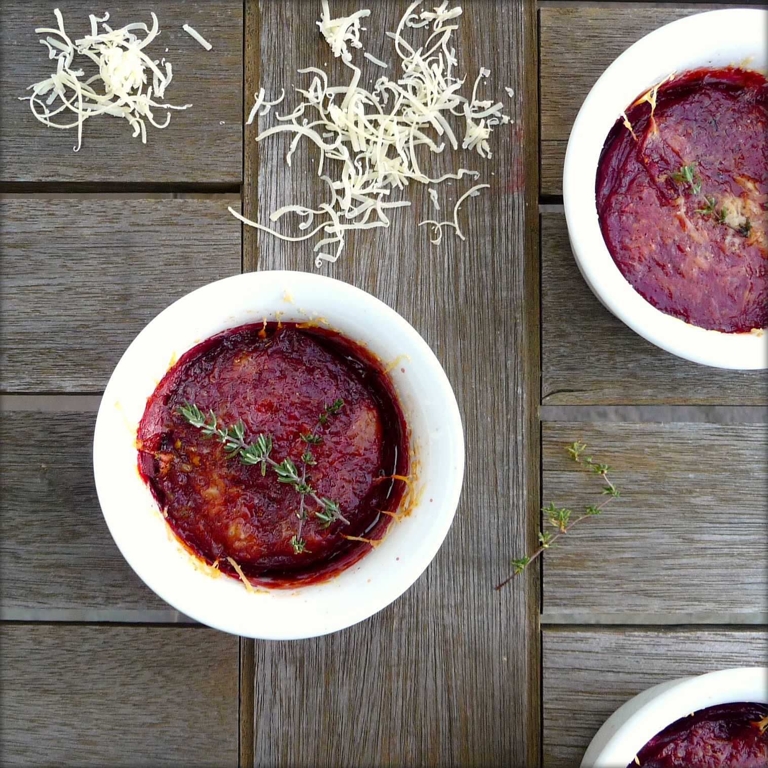 Beet Gratin with Gruyère and Thyme