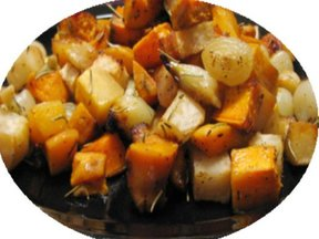 Roasted  Root Vegetables and Quince