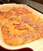 Spicy Sweet Potato-Coconut Gratin