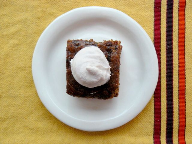Spiced Date Cake with Mulled Wine Mascarpone Cream