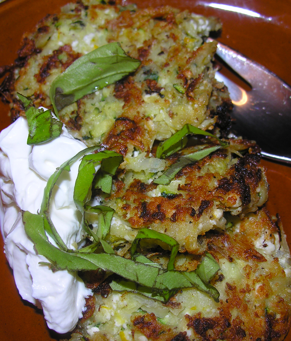Zucchini Orange Ginger Latkes