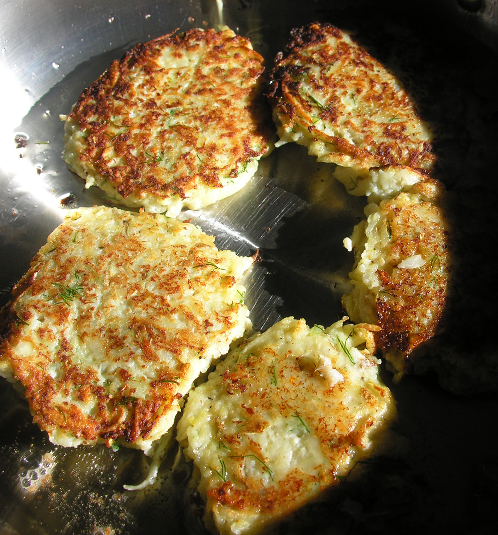 New England potato cod fishcakes