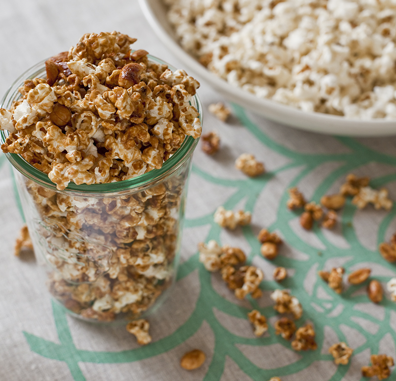 BROWN SUGAR CARAMEL CORN WITH FLEUR DE SEL