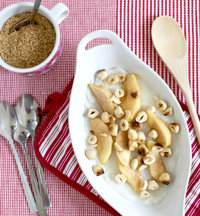 Creamy White Polenta with Buttered Apples and Hazelnuts