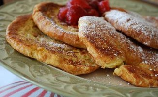 Croissant French Toast with Boozy Sauteed Bourbon Pears