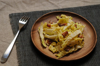 Helen Getzs Napa Cabbage with Hot Bacon Dressing