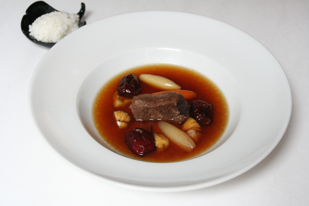 Korean Short Rib Stew with Dried Jujubes and Chestnuts