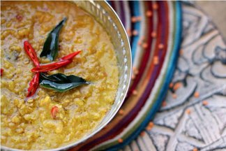 Sri Lankan Masur Dal with Tamarind, Curry Leaves &amp; Coconut Milk