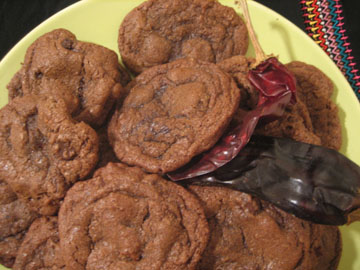 Double Chocolate and Chilli Cookies