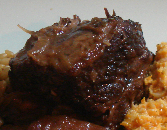 Smoked Porter &amp; Apple Braised Short Ribs