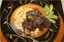 Maple Braised Short Ribs with Browned Butter Noodles