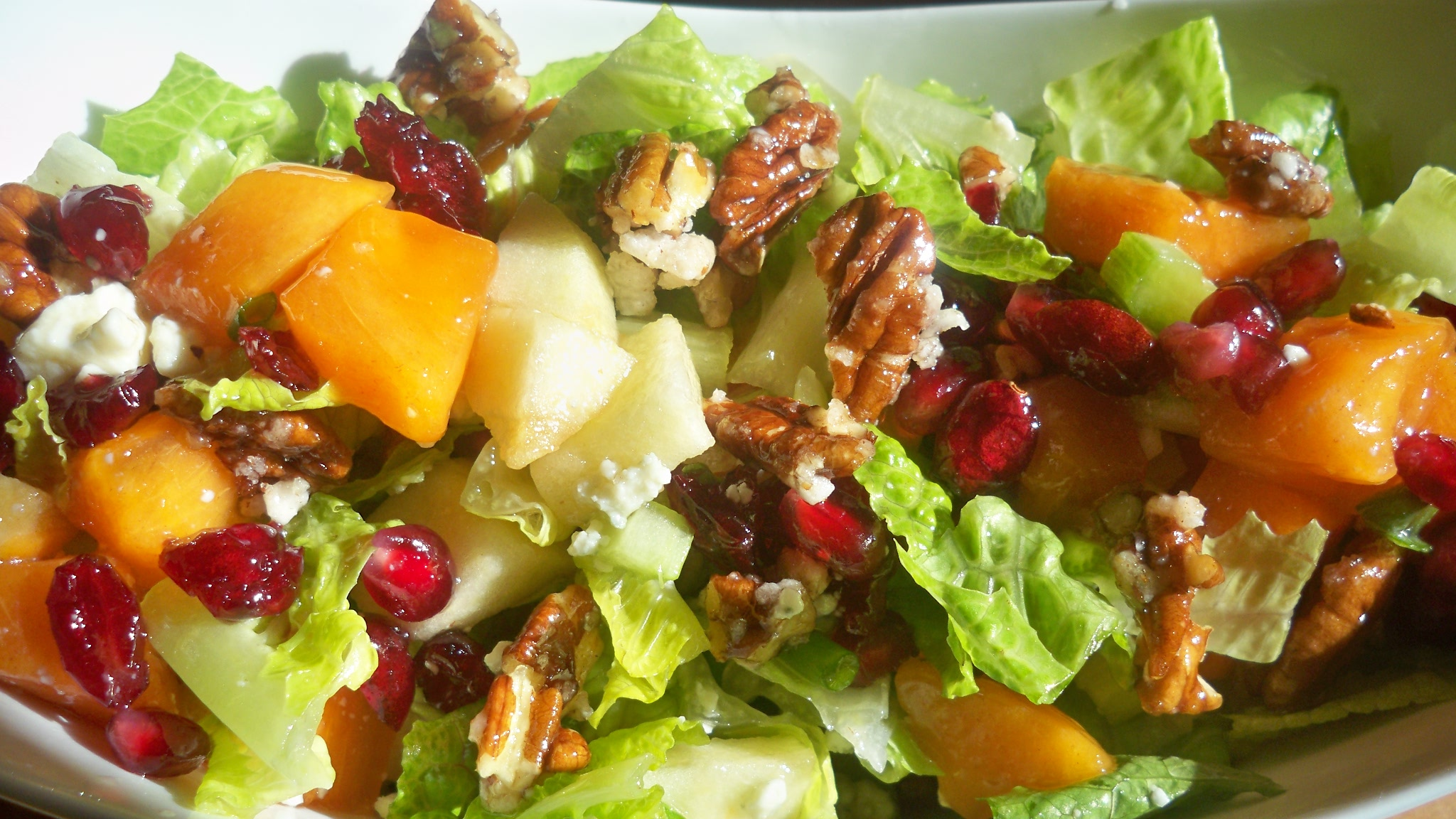 APPLE  PERSIMMON SALAD