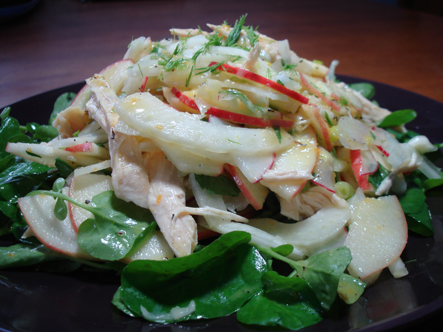 Apple, Fennel, and Chicken Salad with Citrus Vinaigrette recipe on ...