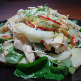 Apple-salad-with-citrus-vinaigrette