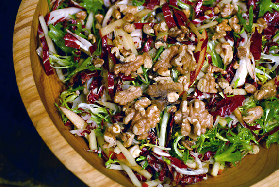 Radicchio Salad with Frise and Apples