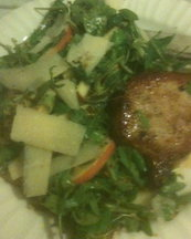 Herbed Apple Salad with Pan-Seared Porkchop