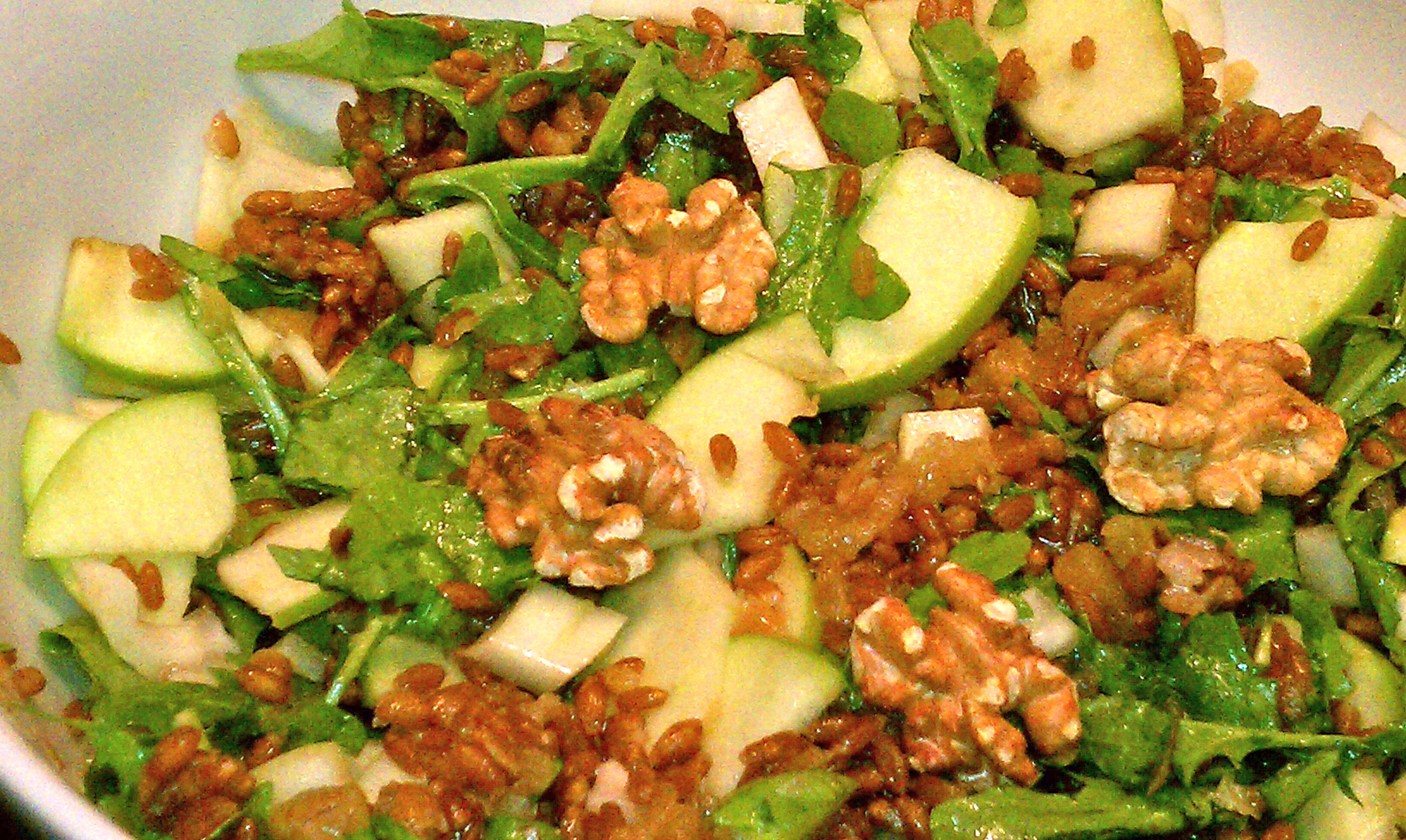 Wheatberry Salad with Apples