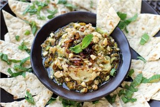 Kashke Bademjan ~ Persian Style Roasted Eggplant Dip