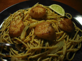 Fennel-scallop-pasta