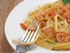 Shrimp &amp; Fettucine in Creamy Coconut Sauce